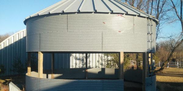 Convert a grain bin to a gazebo