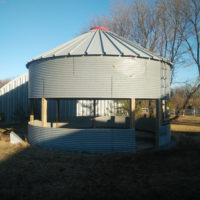 Convert a grain bin to a gazebo